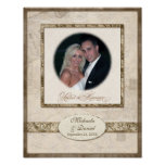 L743 11x14 Wedding Gift Personalized w Photograph Posters