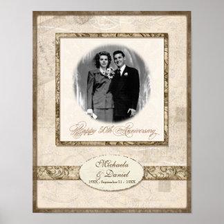 L744 11x14 50th Anniversary Personalized w Photo Print