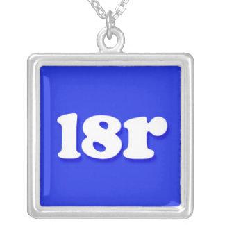 l8r Internet Text Message Phrase Square Pendant Necklace