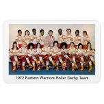 L: 1972 Eastern Warriors Roller Derby Team Rectangle Magnets