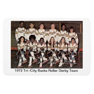 L: 1972 Tri-City Bucks Roller Derby Team Rectangular Photo Magnet