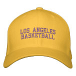 L.A.  BASKETBALL EMBROIDERED BASEBALL HAT