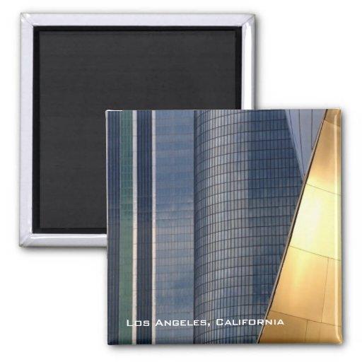 L.A. céntrico Magnet Imán Cuadrado