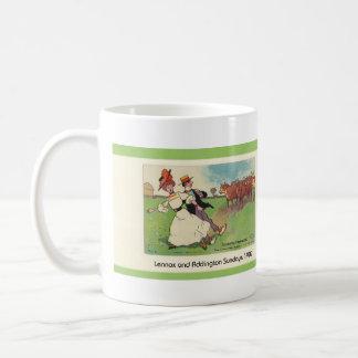 L&A Country Life Classic White Coffee Mug