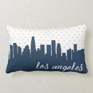 L.A. navy polka dot Lumbar Pillow