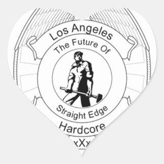 L.A. Straight Edge Hardcore Heart Sticker