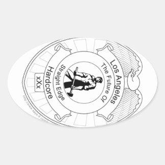 L.A. Straight Edge Hardcore Oval Sticker