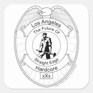 L.A. Straight Edge Hardcore Square Sticker