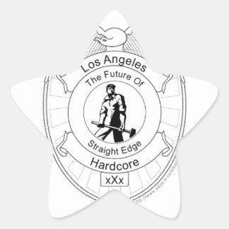 L.A. Straight Edge Hardcore Star Sticker