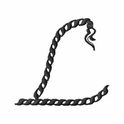 """""""L"""" alfabeto 2,5"""" de la cuerda Sudaderas Bordadas Con Capuchas"""
