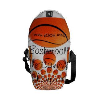 l ama baloncesto el juego del bolso de los bolsa de mensajeria
