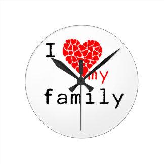 l amor mi familia reloj redondo mediano