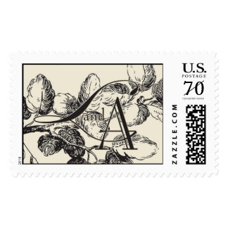L and A monogram Postage