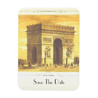 L Arc de Triomphe Paris 1840 Save The Date Vinyl Magnets