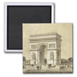 L Arc de Triomphe Paris engraved by Auguste Bry Refrigerator Magnets