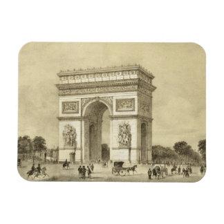 L Arc de Triomphe Paris engraved by Auguste Bry Rectangular Magnet