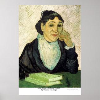 L Arlesienne Madame Ginoux  by Vincent van Gogh Poster
