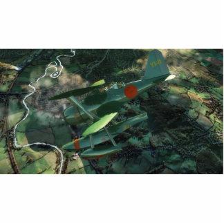 L' avion-vert (Lleno-HD) Fotoescultura Vertical