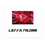 L.b.f.f.a. Falcons debajo de 8 Postal