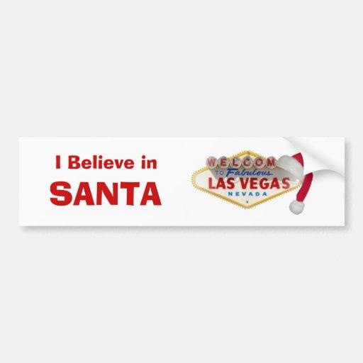 l Believe in SANTA Bumper Sticker