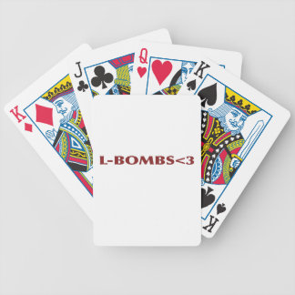 L-BOMBS<3 BICYCLE PLAYING CARDS