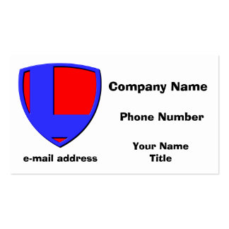 L BUSINESS CARD TEMPLATE