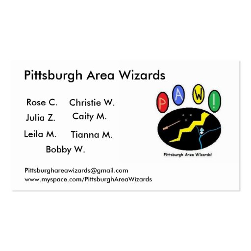 l_c163ae14e50ed6bb7865be77cfd84a52, Pittsburgh ... Business Card
