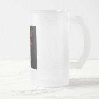 L C M heartflowers beer mug