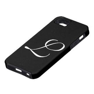 L caso de IPhone 5 del negro del monograma iPhone 5 Fundas