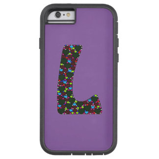 """""""L"""" caso de Iphone 6 del monograma de los Funda De iPhone 6 Tough Xtreme"""