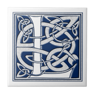 L céltico monograma azulejo cuadrado pequeño