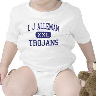 L centro Lafayette de los Trojan de J Alleman Traje De Bebé