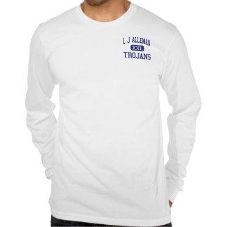 L centro Lafayette de los Trojan de J Alleman Camisetas