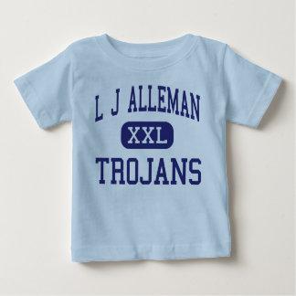 L centro Lafayette de los Trojan de J Alleman Tee Shirts