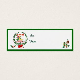 L - CHRISTMAS ELF MONOGRAM GIFT TAGS
