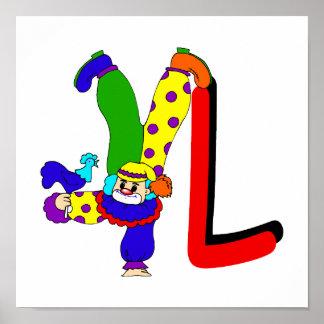 L Clown Print
