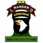 "L Co, 75th Infantry Regiment - Ranger, Vietnam Cutout<br><div class=""desc"">Cut outs for desk or other display featuring a variety of Ranger graphics from beret flash,  tabs,  scrolls,  etc.</div>"
