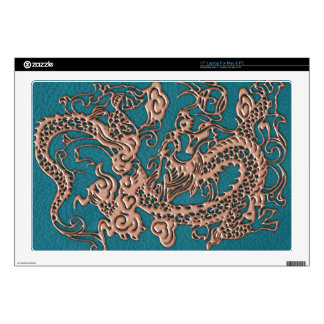 """L-CopperDragon.png Decal For 17"""" Laptop"""