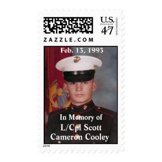 L/Cpl Scott Cameron Cooley Postage