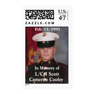 L/Cpl Scott Cameron Cooley Postage Stamp