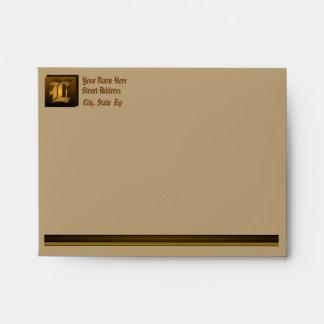 L – Customizable Monogram Card & Note Envelope