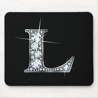 "L ""Diamond Bling"" Print Mousepad"