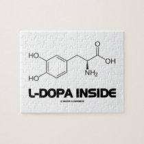 L-Dopa Inside (Levodopa Chemical Molecule) Jigsaw Puzzle