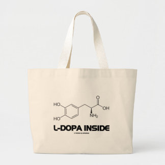 L-Dopa Inside (Levodopa Chemical Molecule) Large Tote Bag