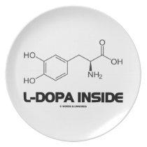 L-Dopa Inside (Levodopa Chemical Molecule) Melamine Plate