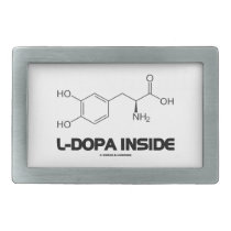 L-Dopa Inside (Levodopa Chemical Molecule) Rectangular Belt Buckle