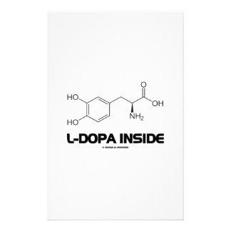 L-Dopa Inside (Levodopa Chemical Molecule) Stationery
