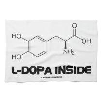 L-Dopa Inside (Levodopa Chemical Molecule) Towel