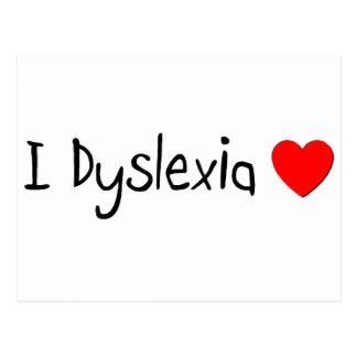 l Dyslexia Love Postcard