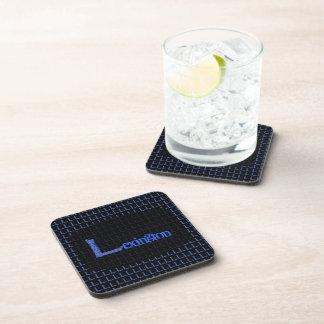 L - El alfabeto de Falck (azul) Posavasos De Bebidas